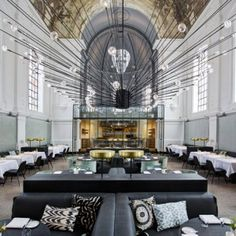 Military church in Antwerp reinvented  as a restaurant by Piet Boon
