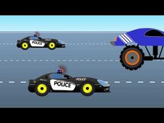 monster truck educational video for kids. the policeman chasing the blue monster truck and soon they crash it. this racing cartoon is for children and soon i. Educational Videos, Games For Kids, Police, Monster Trucks, Racing, Cartoon, Play, Children, Youtube