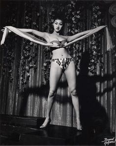 Burlesque performer shot by Bruno Bernard 1950's