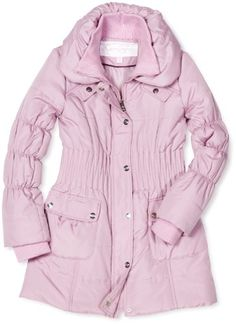 60% OFF Via Spiga Girl\'s 7-16 Long Down Belted Winter Jacket ...