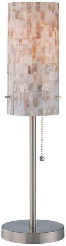 Lite Source - Table Lamp, Ps Shell Mosaic Shade, E27 Cfl 13w : Bright Light Design Center