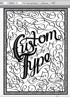 Adobe Illustrator Tutorial: use the calligraphic tool to create decorative type