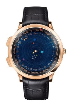 The solar system movements... The watch took 396 pieces and 3 whole years of work to complete