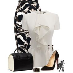 """""""Printed Skirt"""" by oribeauty-cosmeticos on Polyvore"""