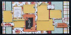 Scrapbook Templates, Diy Scrapbook, Scrapbook Pages, Scrapbooking, Craft Kits, Diy Kits, Heart Diy, Halloween Scrapbook, Thanksgiving Diy
