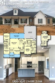 Trendy home architecture design basements 52 Ideas Acadian Homes, Acadian House Plans, New House Plans, Dream House Plans, House Floor Plans, My Dream Home, Dream Houses, Log Houses, Open Living Area
