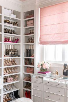 Glam Closet, Closet Vanity, Luxury Closet, Closet Bedroom, Bedroom Decor, Pink Closet, Master Closet, Closet Space, Office Deco