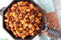 Rigatoni with Italian Sausage is an easy, hearty family dinner recipe perfect for busy weeknights. Find this pasta recipe on http://www.UrbanBlissLife.com