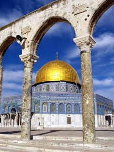 Dome of the Rock, in Jerusalem! I have been there and it is even more beautiful than u could ever imagine!