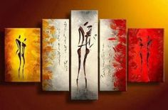 Santin Art - Dance With Me - Modern Canvas Abstract Oil Painting by tammietamm44