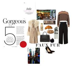 """Faux fur"" by tumblrt ❤ liked on Polyvore featuring Miss Selfridge, T By Alexander Wang, Topshop, Burberry, LC Lauren Conrad and Urban Decay"