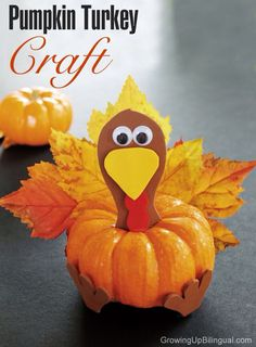 thanksgiving: pumpkin turkey craft