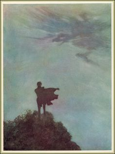Alone - The Poetical Works of Edgar Allan Poe, 1912 - Edmund Dulac