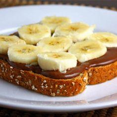 #Kid snack! Yum! #nutella #banana