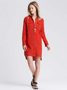 Linen Shirtdress $100 #heyprettything