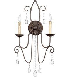Quorum 5516-2-86 Cilia 2 Light 13 inch Oiled Bronze Wall Sconce Wall Light #lightingnewyork #lny #lighting