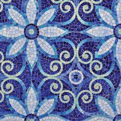 "Dreams of Russian Princesses: Sapphire-Colored Mosaics - Decorating Diva - ""Natasha"" from New Ravenna Mosaics"