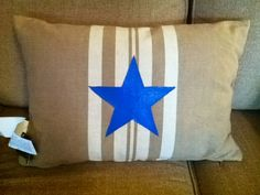 fabric painted pillows