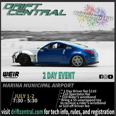 Come out and see some local #drifting being hosted by @driftcentral_official this weekend!  It's events like this I wished my #fcrx7 was ready. ---- #independenceDRIFT #dorifto #nissan #350z #nissan350z justdrift #montereybay #montereybaylocals - posted by Neil Banez https://www.instagram.com/nbanezphotos - See more of Monterey Bay at http://montereybaylocals.com