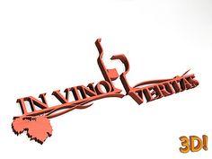 3D Wandtatoo und Buchstaben für die Wand http://www.1a-geschenkeshop.de/3d-schriftzug-in-vino-veritas-breite-125cm-hoehe-52cm-det_4314.htm