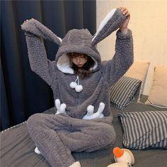 Cute Pajamas, Pajamas Women, Girls Pjs, One Piece Pajamas, Rabbit Ears, Cute Bunny, Cute Casual Outfits, Pajama Set, Shopping