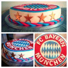 FCB, FC Bayern München, Birthdaycake, Fondant