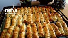 Crispy Pastry with Floury Vinegar Easy Cake Recipes, Pie Recipes, Turkish Recipes, Pastry Recipes, No Bake Cake, Hot Dog Buns, Vinegar, Sausage, Food And Drink