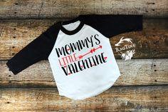 Boys Valentine Outfit - Mommy's Little Valentine / Toddler Raglan shirt / Valentine Baby Outfit / Valentine Day Shirt / Tshirt Kids by RagTine on Etsy