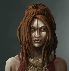 ArtStation - Ethnic woman, Ambre Ladret