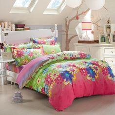 Hot selling Twill Printing Bedding Set duvet/quilt/comforter cover set Bed linen Sheet Bedding 4 pieces bed set bedspread  $76.00
