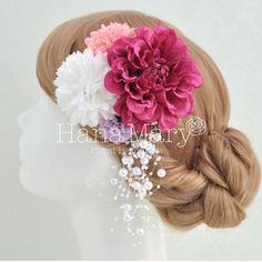 成人式 卒業式 結婚式 和婚 和装 振袖 袴 髪型 ヘアセット 髪飾り