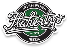 Irish Pub in Spain :: Barcelona :: Ibiza :: Zaragoza :: FLAHERTY'S IRISH BAR. Like the way this isn't too traditionally Irish and could be for any type of bar. Their website is nice too. Irish Bar, Printed Tees, Ibiza, Barcelona, Spain, Website, Type, Barber Shop, Zaragoza