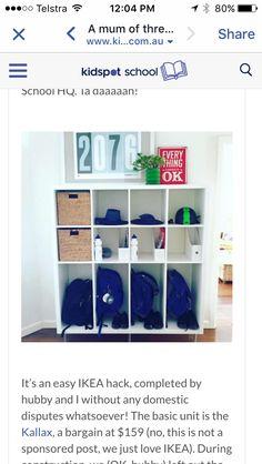 60 Ideas School Bag Storage Ideas Ikea For 2019