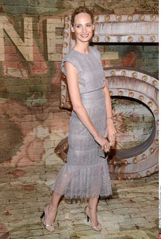 Lauren Santo Domingo in Chanel Fall 2014 Pleated Lace Dress