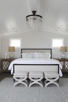 White bedroom just looks pretty and soft