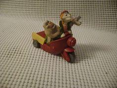 BK PULL BACK toy Disney Oliver & Co dog figure Georgette Francis Fagin vtg bike #BurgerKing
