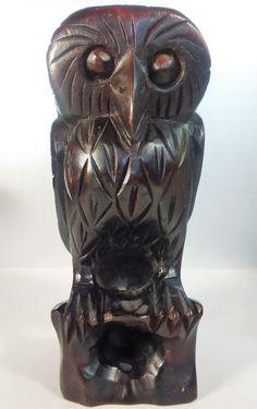Dark Mahogany Owl - $40