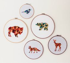 I've got to try these  modern embroidery from www.afinelineblog.com