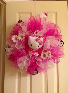 hello kitty deco mesh wreath - Google Search