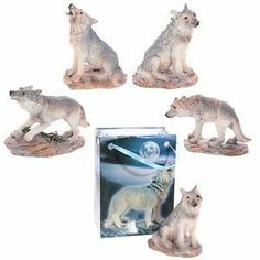 Wolf Figurine in a Bag gift Native American Wolf Themed gift Christmas Present