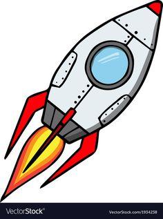 Space rocket Cartoon vector image on VectorStock Rocket Cartoon, Astronaut Party, Ship Drawing, Little Mermaid Birthday, Space Rocket, Elementary Art, Abstract Wall Art, Cartoon Styles, Bumper Stickers
