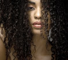 long curly kinky black hair