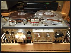 Mechanical Gears, Recording Equipment, Tape Recorder, Audiophile, Favorite Things, Tables, Tech, Photos, Vintage