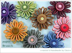 paper quilling brooch