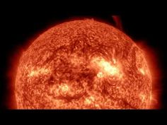 Time-lapse footage compiled from 17,000 images taken by the Solar Dynamics Observatory between October 14th to October 30th, 2014. If the sun were as tall as a typical front door, Earth would be about the size of a nickel. The Sun's temperature is estimated at 15 million degrees Celsius or 27 million degrees Fahrenheit.