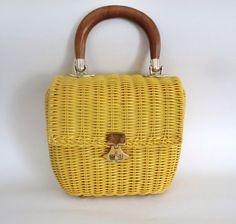 VINTAGE Basket PURSE by BabylonSisters on Etsy, $32.00