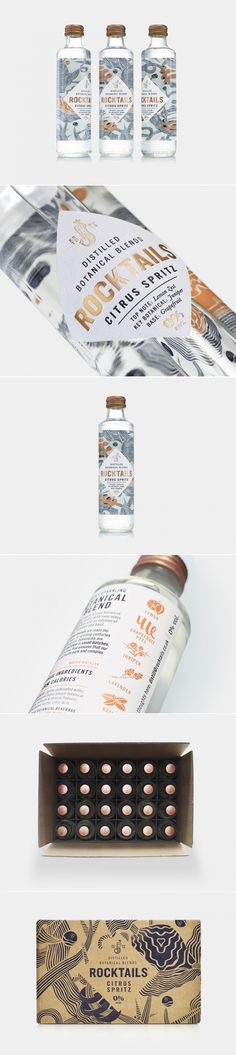 ROCKTAILS is the New Fizzy Beverage With Nature-Inspired Packaging — The Dieline | Packaging & Branding Design & Innovation News