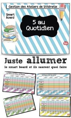 les 5 au quotidien tattoo artist certification - Tattoos And Body Art Ontario Curriculum, Daily Five, French Resources, French Teacher, Learn French, Interactive Notebooks, French Language, Word Work, Classroom Decor