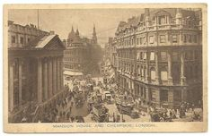 BERGHINZ - Vintage Collectibles: VINTAGE POSTCARD UK - MANSION HOUSE AND CHEAPSIDE,...