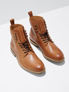 $199 Boots by Frank and Oak - affiliate - Those sneakers will only get you so far into fall. Reach for a sturdy pair of leather logger boots to get you through the colder months ahead.   Burnished leather upper  Leather lining and insole  Anti-slip rubber lugsole, EVAfoam insole  Sturdy nylon laces  Handmade in Portugal